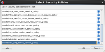 Teaching how to enable Oracle Policies on REST endpoints as part of