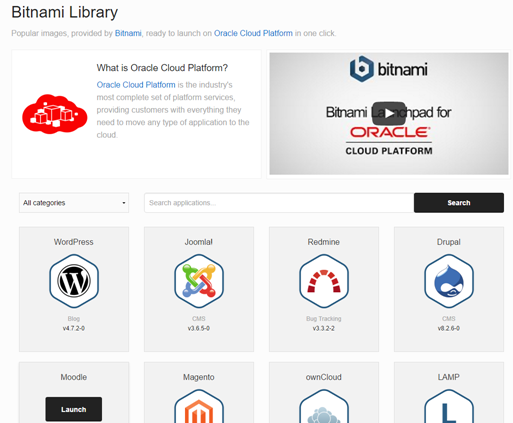 Teaching how to use Bitnami to deploy any Image into Oracle Public