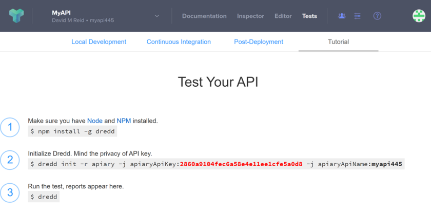 Apiary designed apis tested using dredd redthunder if you ever require the api key value after dredd has been initialised in your project check out the dreddyml file in your project malvernweather Choice Image