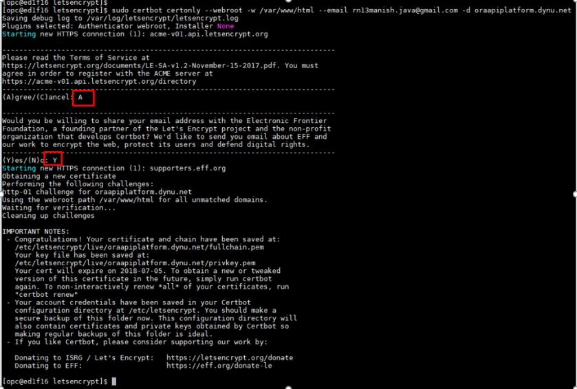 Configure Letsencrypt SSL Certificate in Weblogic 12c – RedThunder Blog
