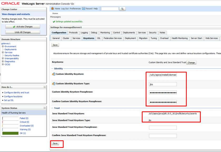 Configure Letsencrypt SSL Certificate in Weblogic 12c
