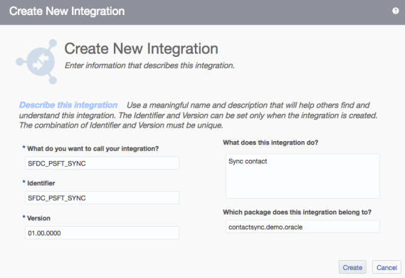 Create Integrations App Orch 2
