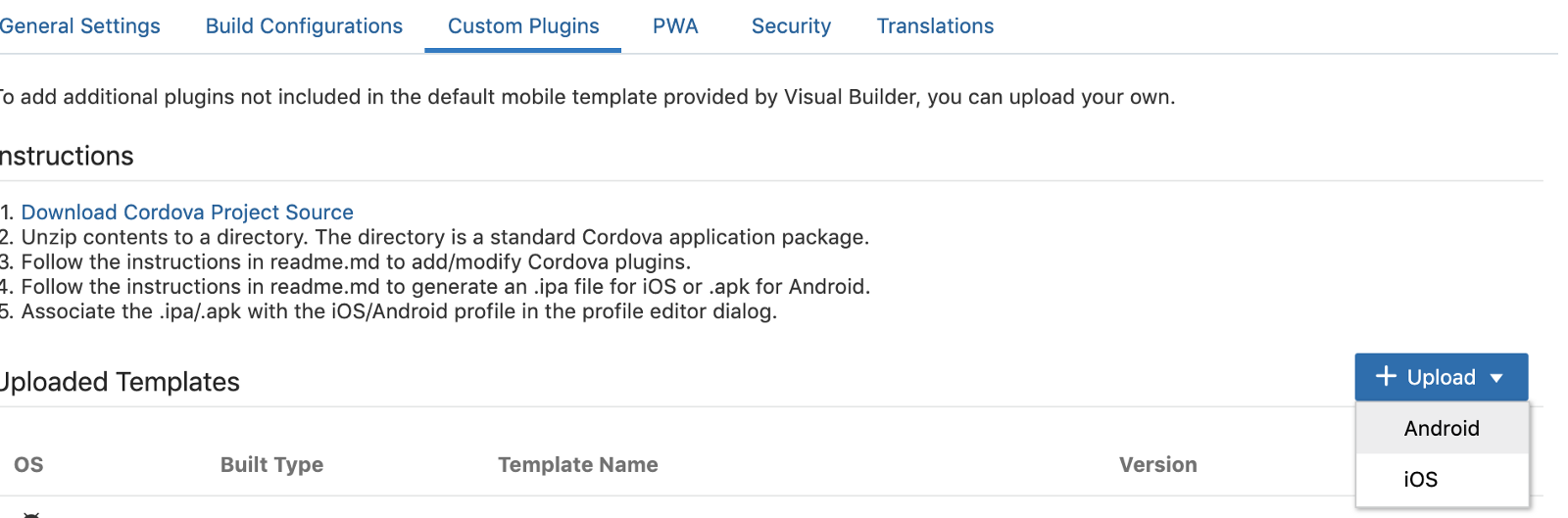 Media Capture using Oracle Visual Builder for Facial