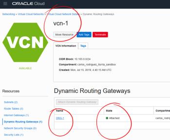 OCI – Remote Peering 2 Virtual Cloud Networks across
